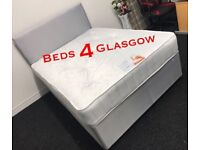 Double Grey Bed with orthopaedic quality Mattress