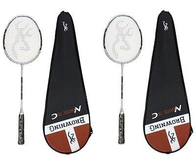 2x Browning NanoTec CTi 75 Carbon Badminton Rackets + 6 Carlton shuttle RRP