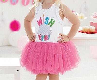 Girls MUD PIE birthday party dress 2T & 3T NWT tutu cupcake boutique outfit pink - Cupcake Tutu Outfit