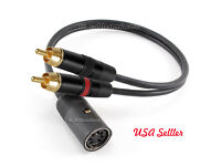3ft Value Din7 F to Gold 2-RCA M TurnTable Cable w// Ground