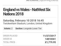 Six nations ENGLAND V WALES