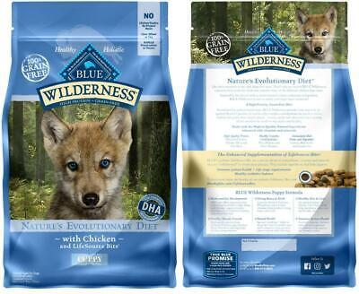 Blue Buffalo Puppy - Blue Buffalo Wilderness High Protein Grain Free, Natural Puppy Dry Dog 4.5 lb