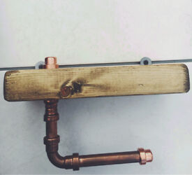 Industrial Copper Pipe Toilet Roll Holder