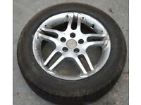 "15"" INCH 5 stud ALLOY WHEEL WITH a TYRE (Toyota Avensis T reg)"