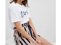 Asos pieces slogan t-shirt size small