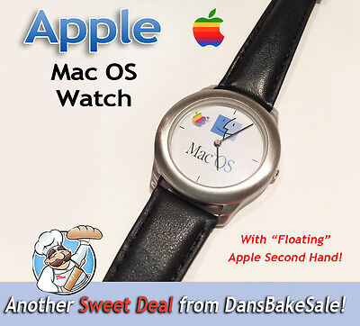 Apple Mac OS Watch w/ Floating Apple Second Hand - Vintage, Hard to Find, NICE!  for sale  Shipping to India