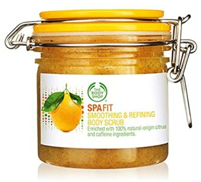 THE BODY SHOP SPA FIT ZESTY SMOOTHING AND REFINING SCRUB *NEW/UNOPENED* 7oz.