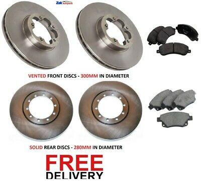 FOR FORD TRANSIT (06-13) 280 300 330 350 FRONT & REAR BRAKE DISCS & PADS SET RWD