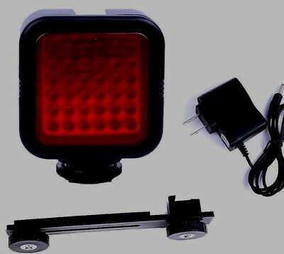 LED IR Infrared Night Vision Camera Rechargeable Video Ghost Light Illuminator