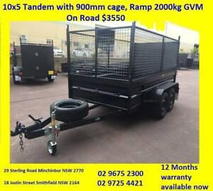 10X5 HI SIDE HEAVY DUTY RAMP 900MM CAGE 12 MONTH PRIV REGO $3550 Minchinbury Blacktown Area Preview