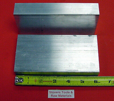 2 Pieces 1-14 X 4 Aluminum 6061 Flat Bar 6 Long 1.25 Solid Plate Mill Stock