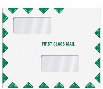 Double Window First Class Tax Return Filing Envelope ENV400 9.5 x 11.5 500/case First Class Window Envelopes