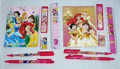 12 Disney Princess Stationery Set Wholesale School Party Favor Gift Bag Fillers
