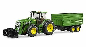 Bruder Toys John Deere 7930 - 03055 - children's toy farm tractor with trailer