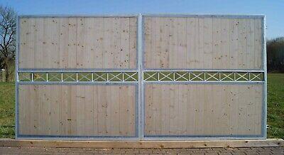 Garden Gates Yard Crossline-FT400/200-BB Opaque Winkelrahmen Galvanised