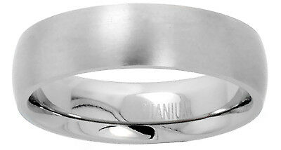 6mm Titanium Men Women Wedding Band Thumb Ring Domed Matte Finish Comfort Fit
