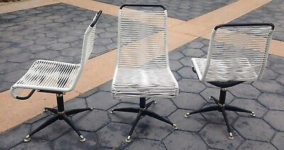 Vintage Mid Century Patio Ames Aire Cabana Star Swivel Chairs not Brown Jordan