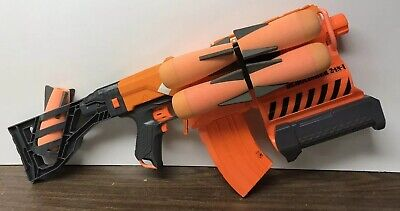 Nerf Demolisher Blaster & Five Missiles, And 3D Printed Parts. Read Description