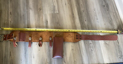 Buckingham Heritage 4 Leather Ring Lineman Pole Climbing Body Belt - 41.5 Long