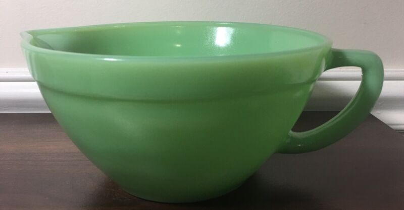 JADEITE BATTER BOWL Pitcher New Jade Glass  (Not Fire King)