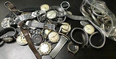 Assorted Lot Of Vintage Watch And Pocket Watch Parts