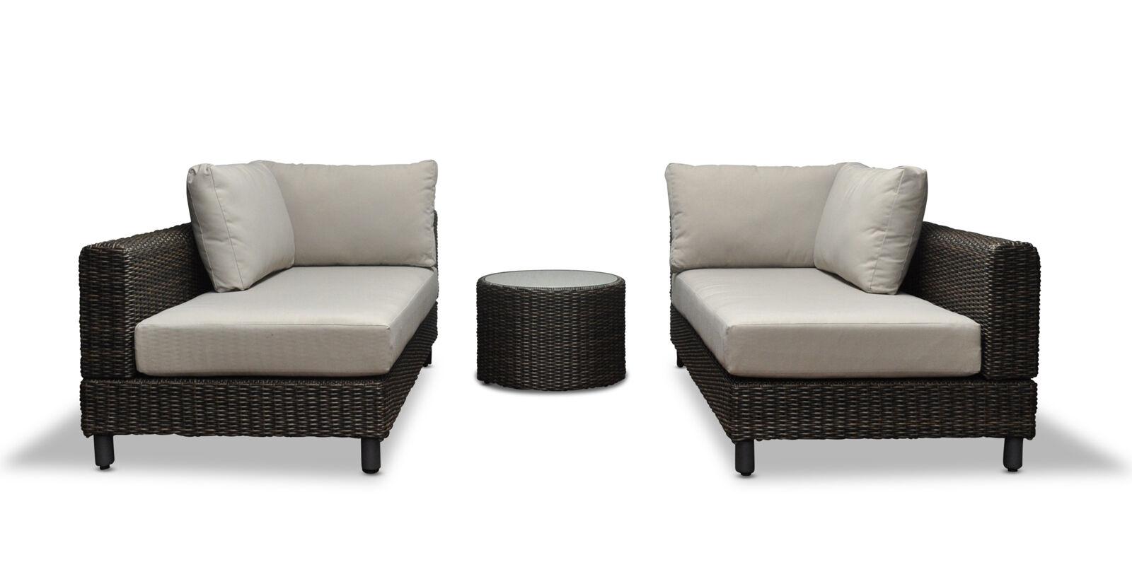 Modular Wicker Outdoor Corner Sofa Chaise Sun Lounge Daybed Rattan Furniture Set Aud 1