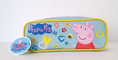 Nick Jr. Peppa Pig Boys & Girls Canvas Pencil Pouch BLUE ()
