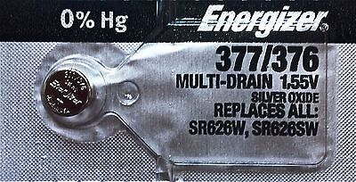 ENERGIZER 377/376 SR626SW SR626W WATCH BATTERIES NEW SEALED Authorize Seller