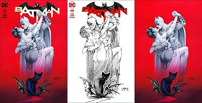 Batman #50 ~ Exclusive Joseph Linsner Variant ~ 3-Cover Set ~ Galaxy Comics
