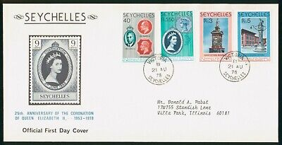 Mayfairstamps Seychelles FDC 1978 Queens Coronation Anniv Combo First Day Cover