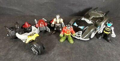 Imaginext Batmobile DC Super Friends Gift Set Batman Robin Bane Fisher Price