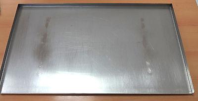 Backblech Edelstahl 78 x 48 (3) mit 2 Schienen