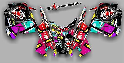 2010 - 2014 POLARIS PRO RMK - RUSH Decal Sticker Graphics Kit Joker Graffiti
