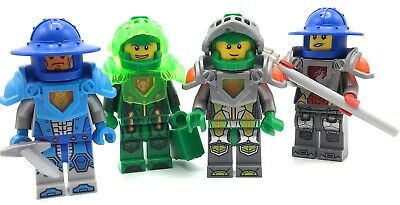 LEGO LOT OF 4 NEXO KNIGHT MINIFIGURES CASTLE UNIQUE FIGS