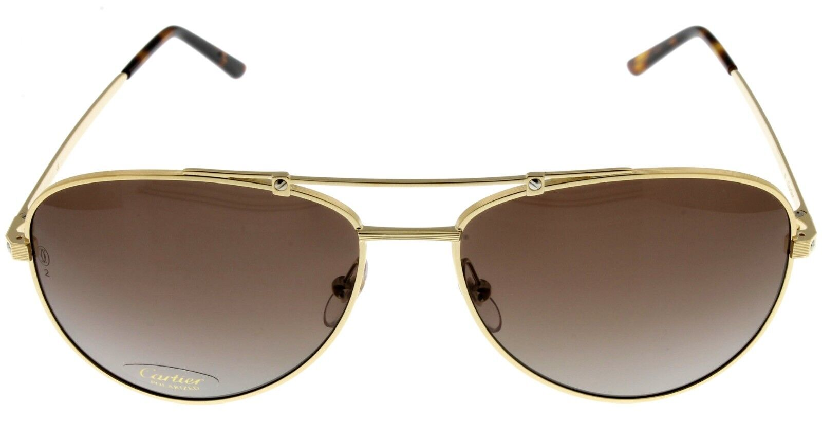 58bdd16b18 Мужские солнцезащитные очки Cartier Santos De Men Polarized Sunglasses  Brushed Gold Aviator ESW00131