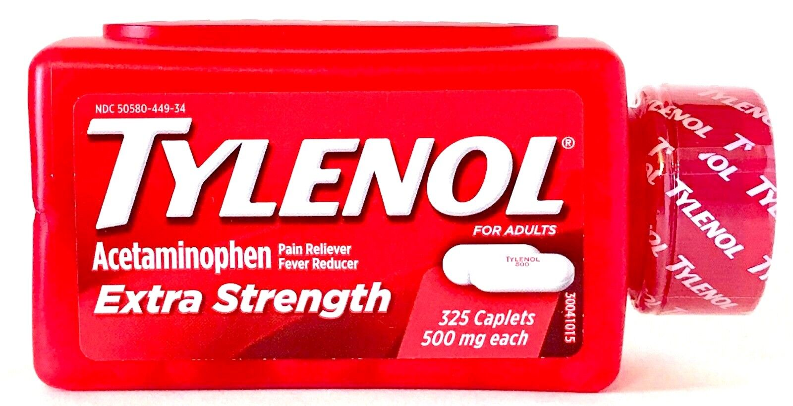 TYLENOL 325 CAPLETS EXTRA STRENGTH 500 mg ACETAMINOPHEN PAIN
