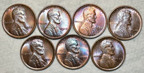 Brilliant Uncirculated 1928-P Lincoln Cent, Beautiful specimens