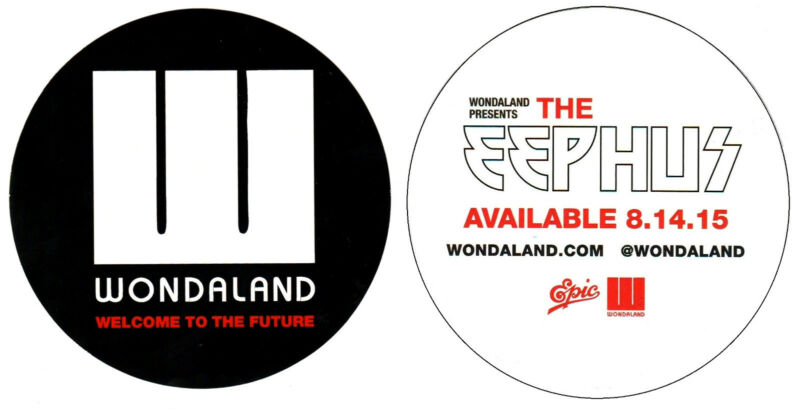 JANELLE MONAE Presents The Eephus Ltd Ed RARE Logo Sticker +BONUS Pop Stickers!