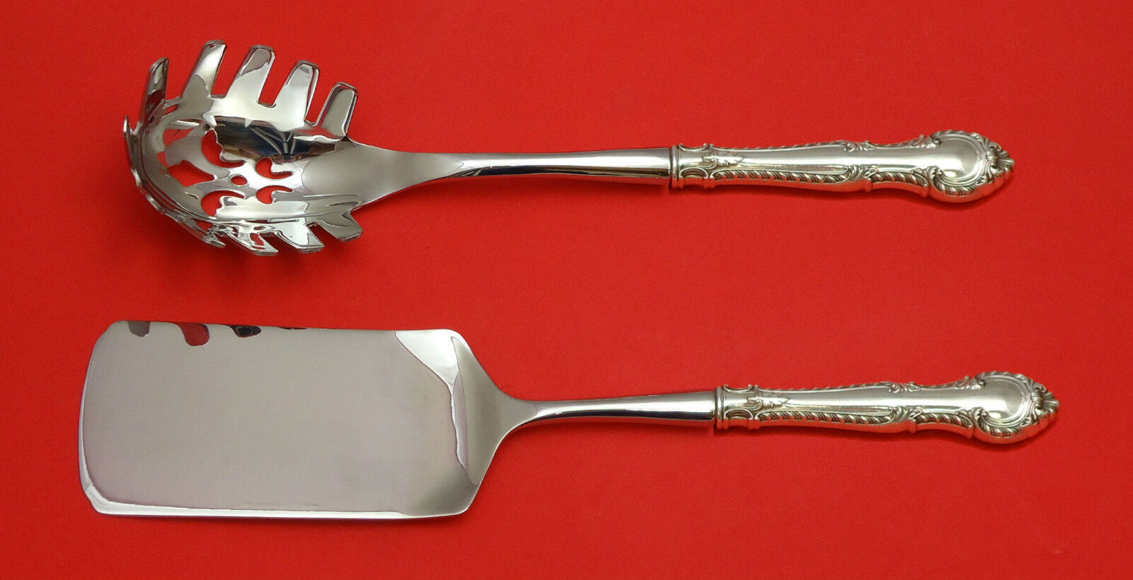 English Gadroon by Gorham Sterling Silver Salad Serving Set 2pc HHWS  Custom