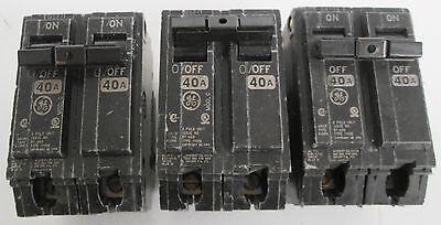 3 Ge Type Thqb Circuit Breakers 2 Pole 120240v 40a