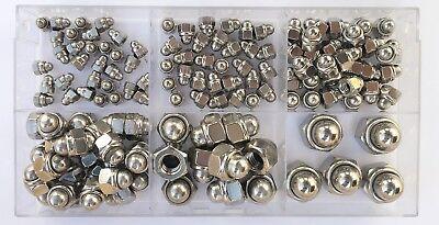 Sortiment-Hutmuttern selbstsichernd DIN 986 M4 - M12 Edelstahl A2 130 Teile