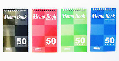4pk Spiral Memo Pad Books Narrow Lined Note Books 3 X 5 50 Sheets Pages Each
