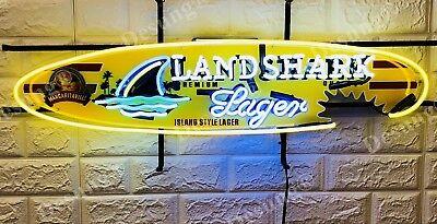 "New Landshark Lager Beer Bar Artwork Light Neon Sign 32"" with HD Vivid Printing"