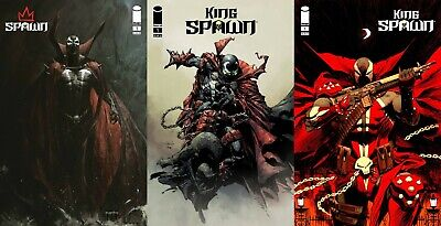 KING SPAWN #1 VARIANT SET OF 7 COVERS MCFARLANE FINCH CAPULLO CATES COMIC 8/18