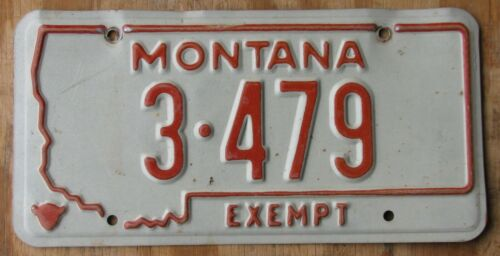 MONTANA County/City Police/Fire license plate  1976  3 479  YELLOWSTONE Co.