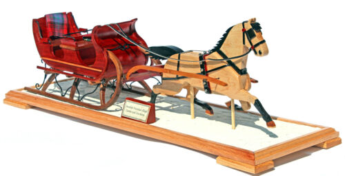 Christmas Sleigh & Currier & Ives Horse woodwork plan, full size patterns