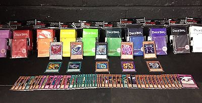 *70* YuGiOh! Cards Pack with XYZ + Rares + Holos + Deck Box + Sleeves