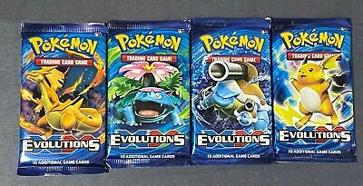 XY EVOLUTION - Booster packs LOT (10) Factory Sealed FROM KANTO BOX POKEMON TCG