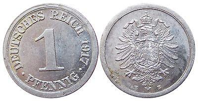 J300   1 Pfennig Kaiserreich 1917 E in STG-  502790