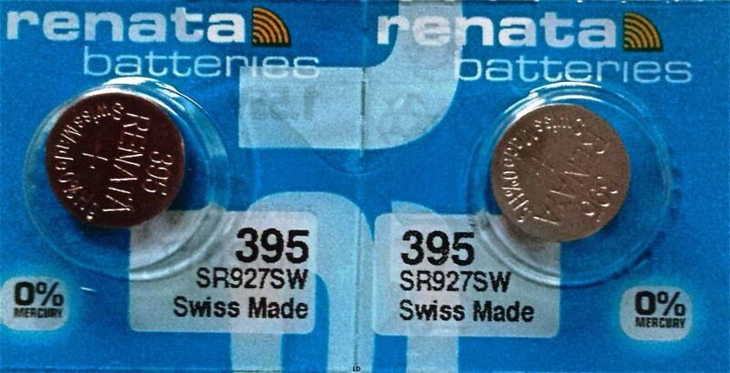 395 Renata Watch Batteries Sr927sw (2 Piece) New Packaging Authorized Seller